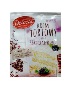 Delecta Krem tortowy o smaku smietankowym-100g