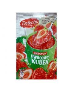 Delecta Owocowy kubek o smaku truskawkowym-30g