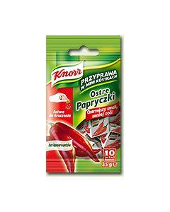 Knorr Przyprawa w Mini Kostkach Ostre Papryczki 35g/10psc.