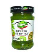 LOWICZ Goosberry and Kiwi fruit Jam low sugar 280g
