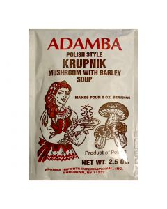 Polish style Krupnik soup  with mushroom and barley 1.5 oz - ADAMBA