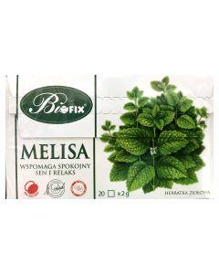 BIOFIX Herbata ziołowa melisa 20 torebek