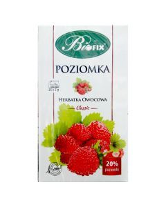 BIOFIX Herbata owocowa Poziomka 25 torebek