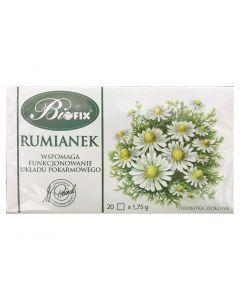 BIOFIX Herbata ziołowa rumianek 20 torebek