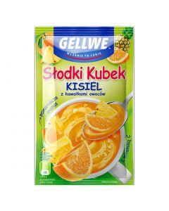 Gellwe Slodki Kubek Kisiel Pomaranczowo-Ananasowy 30g