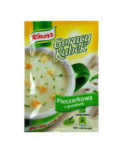 Knorr Goracy Kubek Pieczarkowa z Grzankami