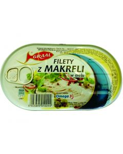 GRAAL Mackerel fillets in oil 170g