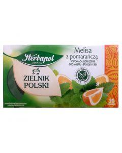 HERBAPOL Herbata melisa z pomarańczą 20 torebek