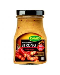 KAMIS Spicy Mustard With Chili Peppers 185g