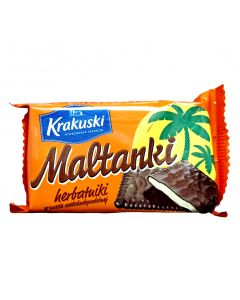 KRAKUSKI Maltanki Biscuits Dark Chocolate Covered 80g