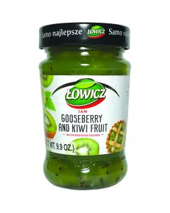 LOWICZ Goosberry and Kiwi fruit Jam low sugar 280g