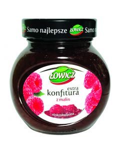 LOWICZ Raspberry preserves low sugar 240g