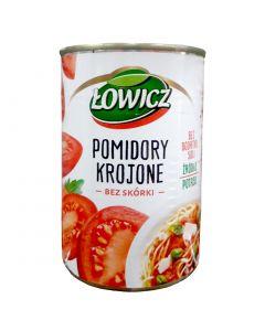 ŁOWICZ Pomidory krojone bez skórki 400g