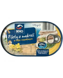 SEKO Mackerel Fillets in oil 170g