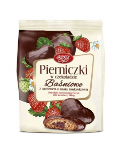 SKAWA Chocolate Covered Gingerbread with Strawberry filling 150g