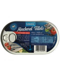 VAVEL Mackerel Fillets in Tomato Sauce 170g