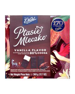 WEDEL Ptasie Mleczko waniliowe w czarnej czekoladzie 360g